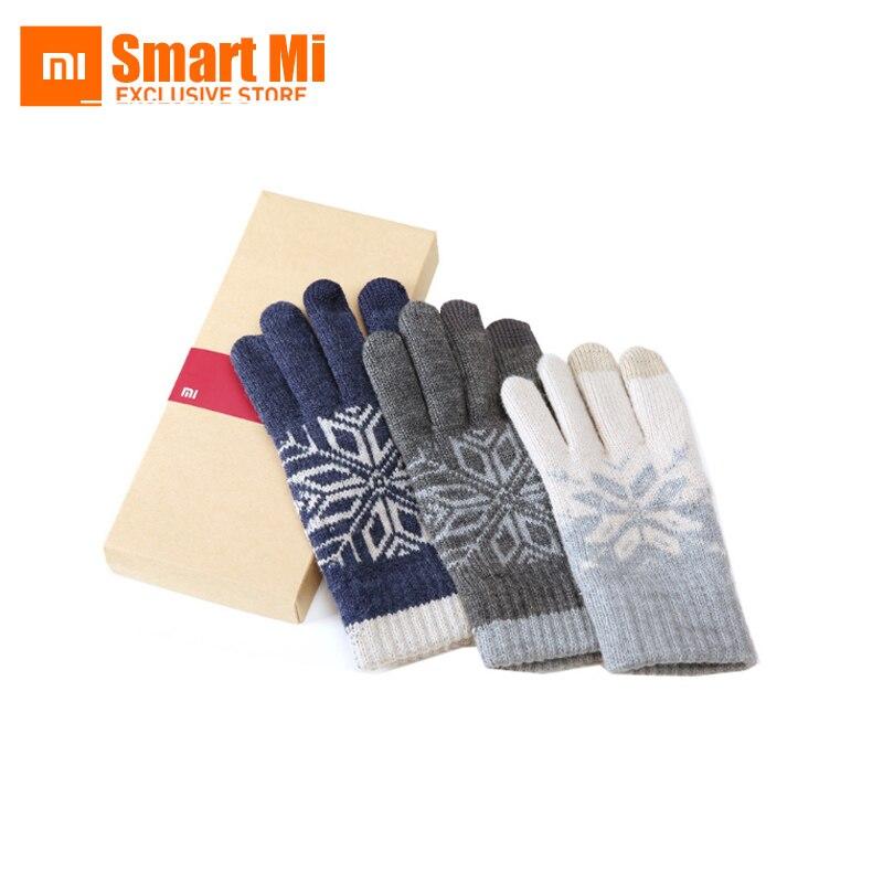 Original Xiaomi Finger Screen TouchGloves Winter Warm WoolGloves For iphone 6 7s Xiaomi Touch Screen Phone Tablet Cash Machine