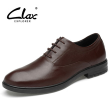 CLAX Men Formal Shoes Genuine Leather 2019 Spring Summer Dress Shoe Male Bussiness Office Footwear Oxfords Wedding