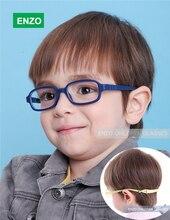 Flexible Enfants Lunettes Cadre Taille 45/16 Pas de Vis, TR90 Enfants Lunettes, incassable Sûr Lumière Garçons Filles Optique Lunettes