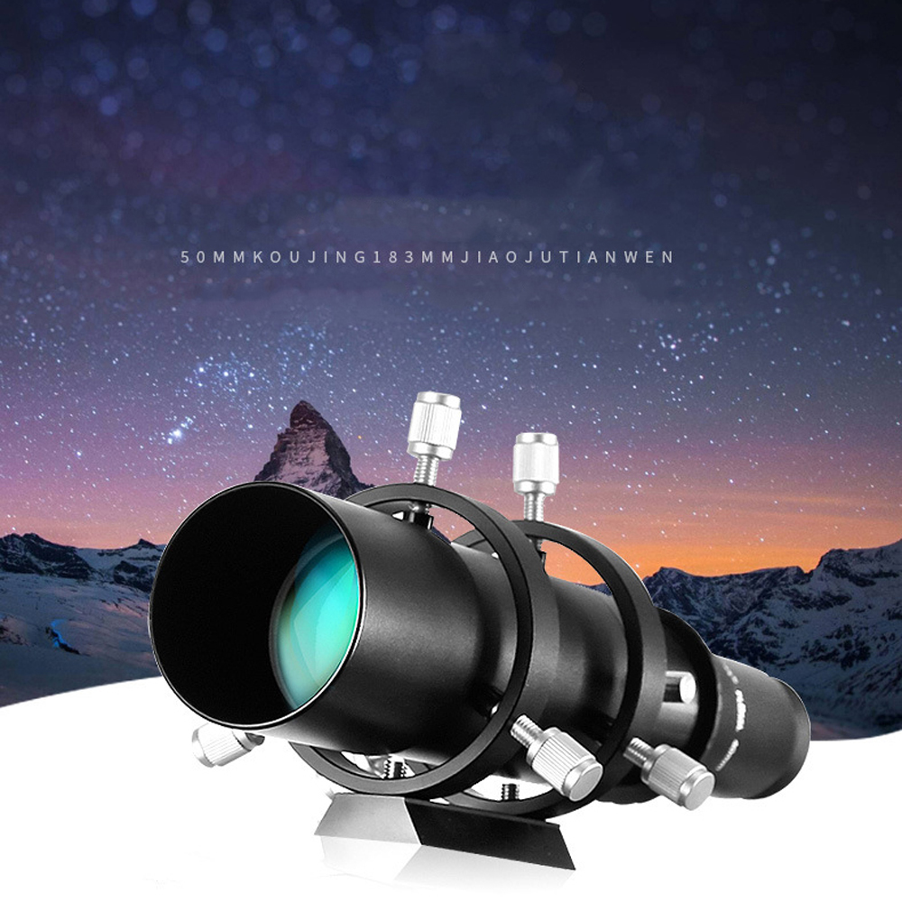 50mm Guide Scope Finderscope for Astronomical Telescope 183mm 1 25in Focal Length Ratio Guidescope with Double