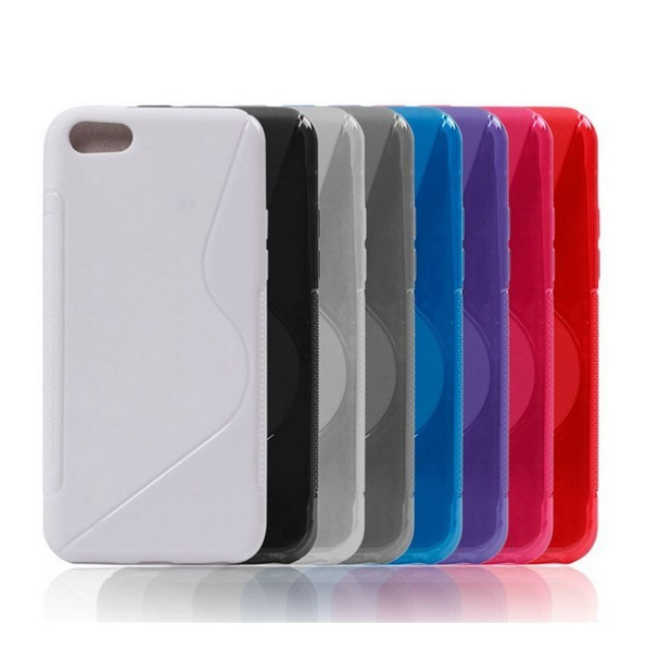 in stock fashion S Line S type Soft Cover TPU case protector case For iphone 5C  Many Colors in Stock