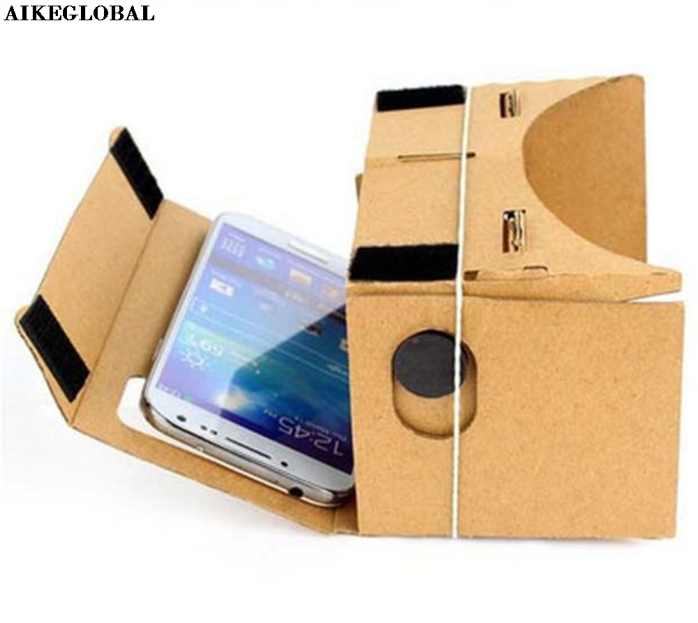 AIKEGLOBAL DIY Cardboard Quality 3D Vr Virtual Reality Glasses  FOR iPhone, FOR Google,FOR Nexus 6  FOR Samsung Mobile Phones