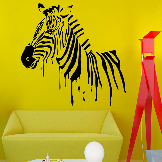 Wild Animal Silhouette Wall Decals Zebra Wall Stickers Vinyl ...