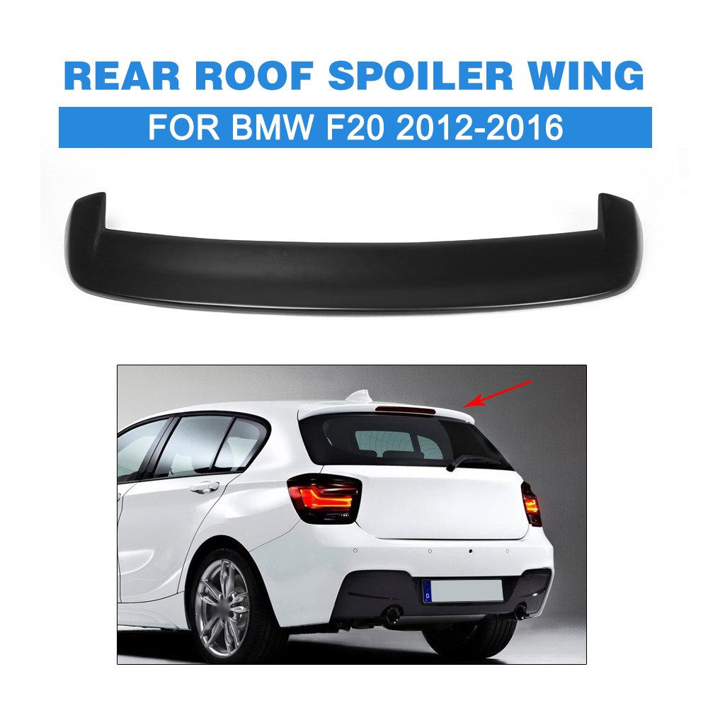 FRP Rear Roof Spoiler Wing for BMW F20 2012-2016 Matt Black Trunk lip Trim Sticker Custom Spoiler Car Tuning Parts carbon fiber rear trunk boot spoiler wing trim sticker fit for tesla model s sedan 4 door 2012 2017 matt gloss car tuning parts