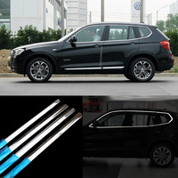 12pcs Stainless Steel Door Window Frame Sill Molding Trim For BMW X3