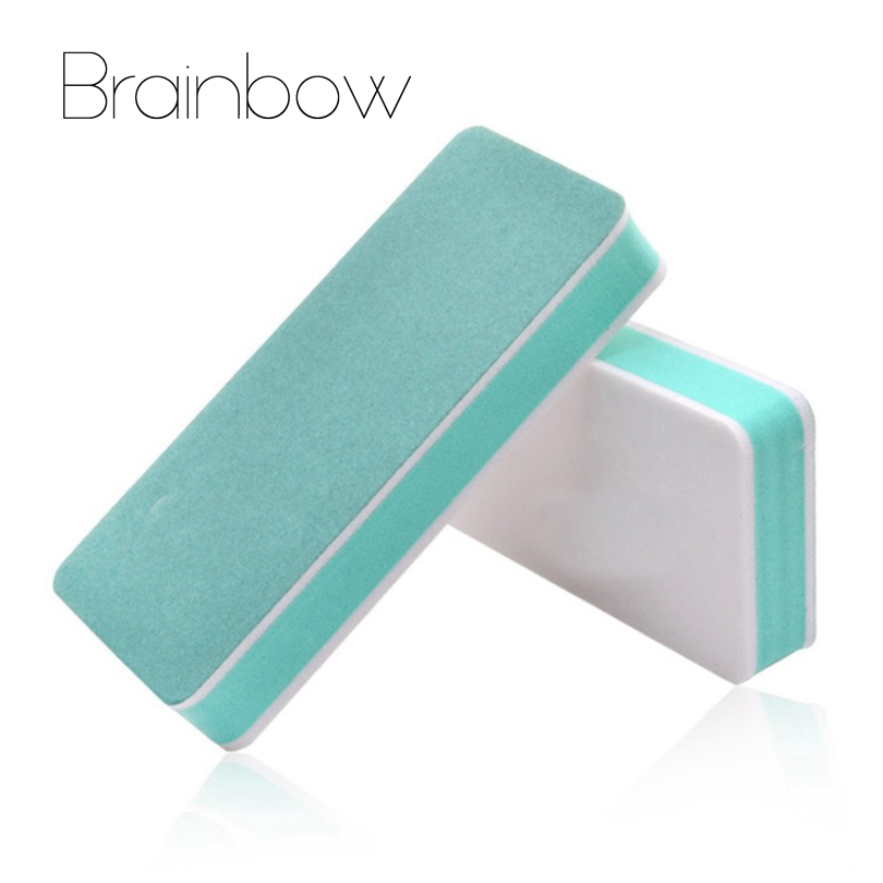 Brainbow 5pc/Lot Nail Buffer And Files Block Double Sided Nail Art Tool Manicure Device Tool UV Gel Polisher Nail File Polishing 1 roll 10m clear nail double side nail adhesive tape strips tips transparent manicure nail art tool