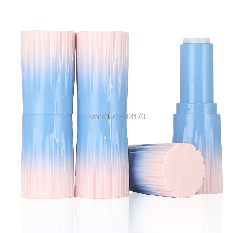New arrival 12.1mm Empty lip balm tubes Pink,Blue Gradient Color lipstick package DIY cosmetic packing container free shipping комплект белья pink lipstick