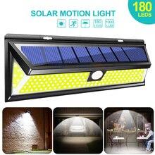 180 güneş enerjili LED sokak lambası ışık COB 3 modları hareket sensörü açık güneş duvar lambası su geçirmez enerji tasarrufu bahçe Yard güvenlik ışıkları