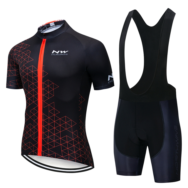 Northwave NW 2019 Summer Cycling Jersey Short Sleeve Set bib shorts MEN MTB Bicycle Clothes Maillot Culotte Clothing Sportwear