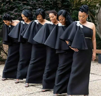 New Arrival Black Girls Bridesmaid Dresses 2019 African Summer Country Garden Wedding Party Guest Maid of Honor Gowns Plus Size