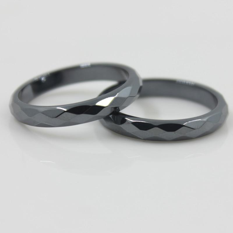 Modni razred AAA kvalitete 4 mm širina brušenog hematitnog prstena - Modni nakit - Foto 2