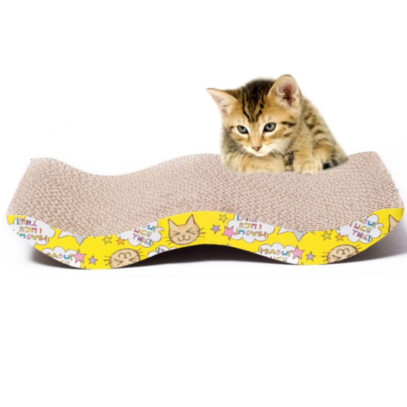 Cat Kitten Corrugated Scratch Board Pad Funny Scratcher Bed Mat Claws Care Interactive Toy For Pet Cat Training Cat Toy 2018