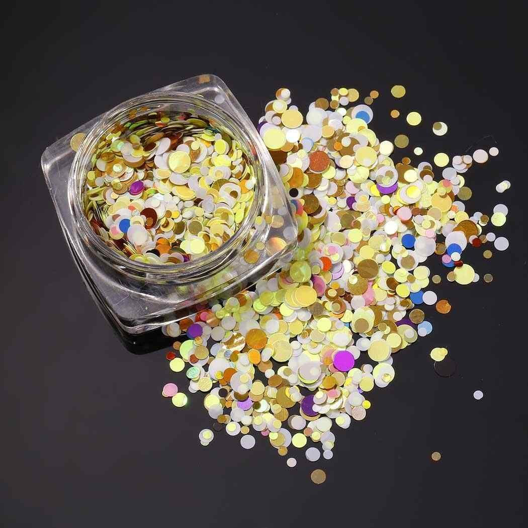 New Women Fashion Nail Art Manicure 3D Decoration Nail Glitter Dust 3cm/1.2inch Powder Sequins Sheets