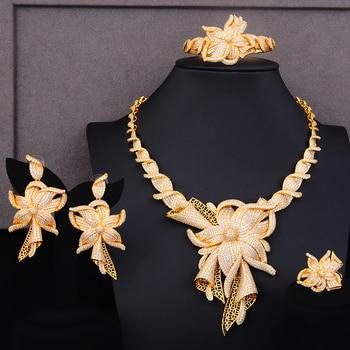 GODKI Famous Brand Charms Lariat Choker Luxury Statement Dubai Jewelry Sets For Women CZ Zircon Wedding Bridal Jewelry Sets 2019