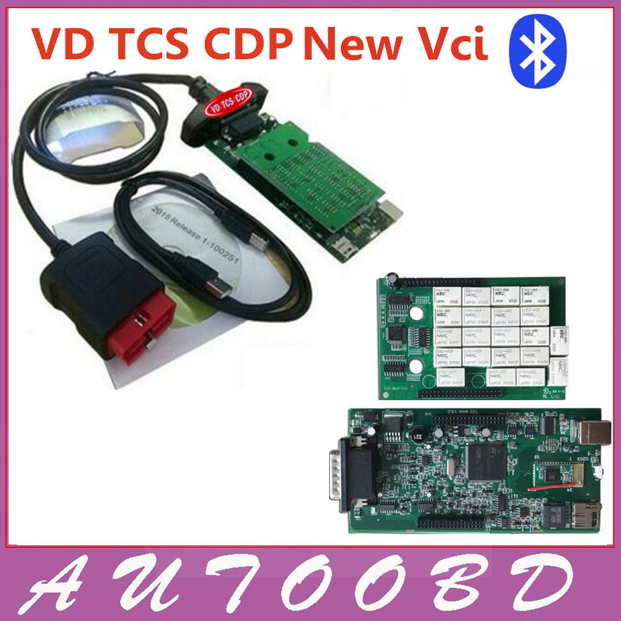 3PCS+DHL Freeship!! 2014.R2 CD Software NEW Vci With Bluetooth Two PCB Board VD TCS CDP OBD2 Scanner car/truck Diagnostic Tool new arrival new vci cdp with best chip pcb board 3 0 version vd tcs cdp pro plus bluetooth for obd2 obdii cars and trucks