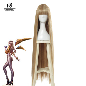 ROLECOS Game LOL Prestige Edition KDA Kaisa Cosplay Hair K/DA Kaisa Long Hair Cosplay Headwear 80cm Synthetic Hair for Women