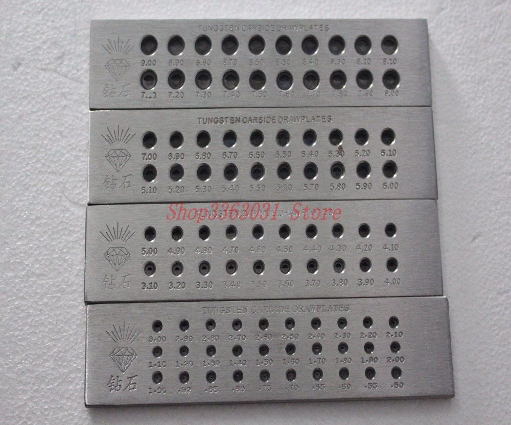 Jewelers Jewelry Making Tools Hardened Steel Wire Draw Plates For Reducing Wire Or Wooden Dowels Drawplate