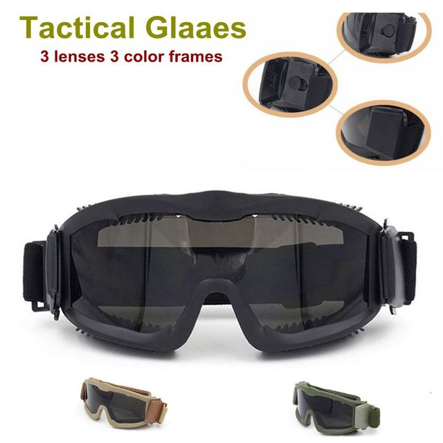 fbd40a8dfb Airsoft Tactical Paintball Eye Protection Tactical Glasses Goggle Eyewear  Outdoor Camping Hiking Shooting Safety Sunglasses