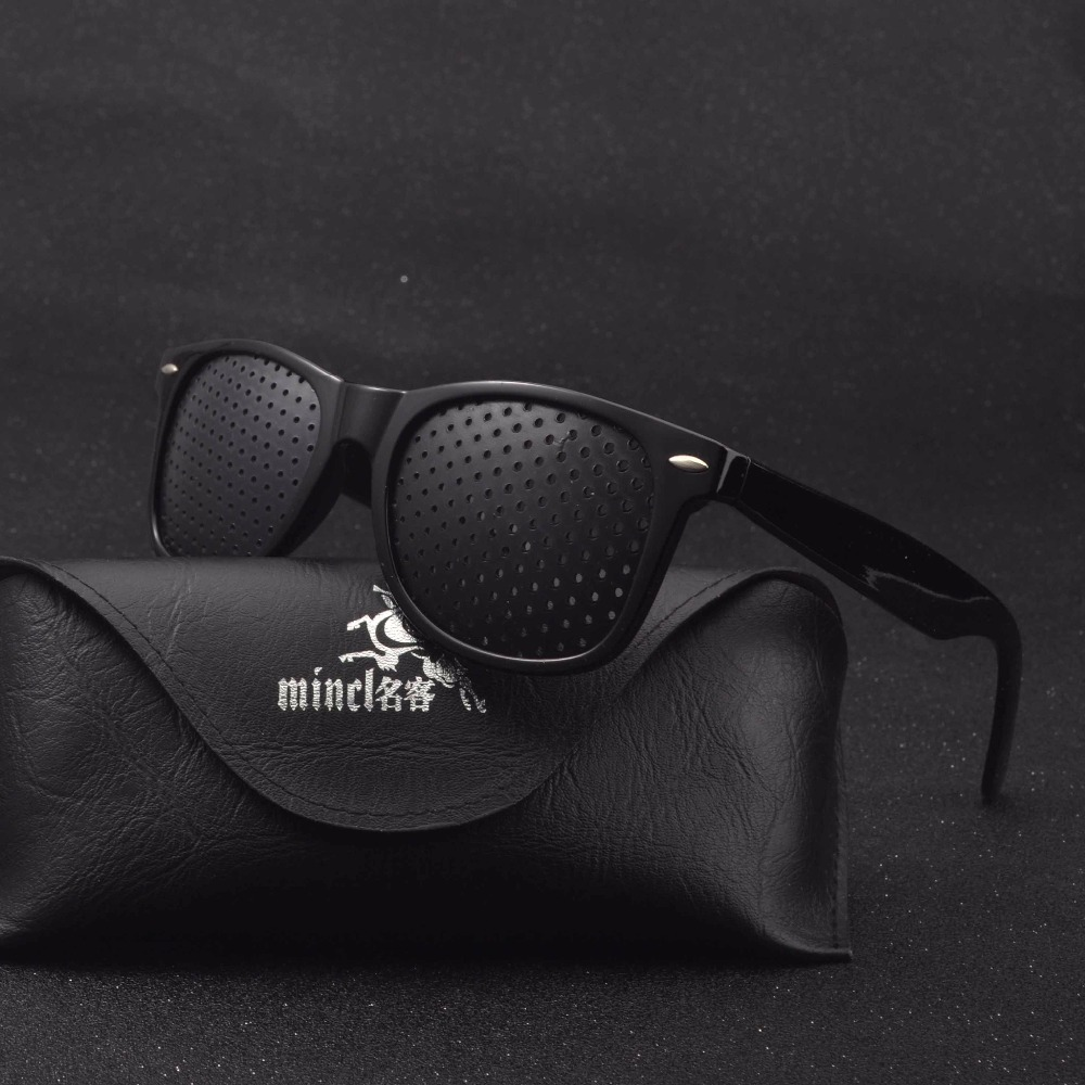 MINCL/Anti Myopia Pinhole Glasses Pin Hole Sunglasses Eye