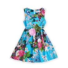 Filles Floral Robes D'été pour Bébé Vestdios Enfants Imprimer Robe D'été Enfant Vêtements Adolescent Fleur Sans Manches Robe Infantile Vêtements