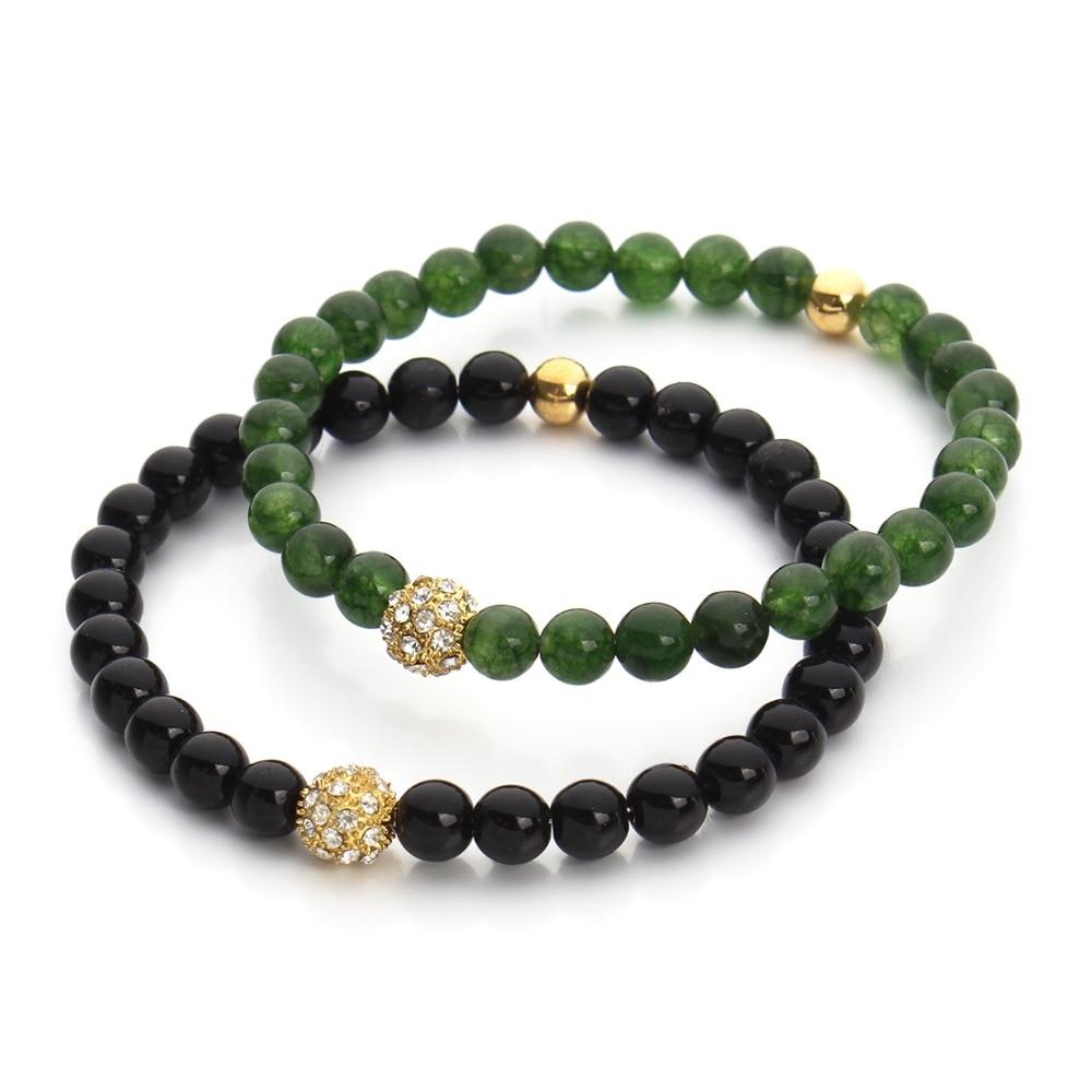 Greenbeads Green Stretch Bead Bracelet Yl0pFdzf