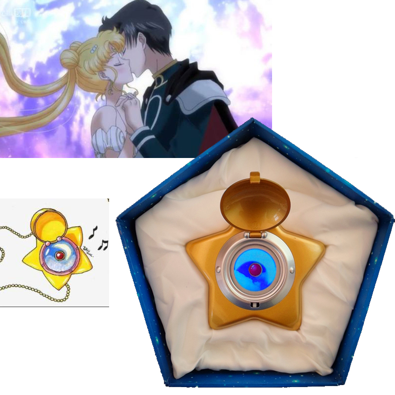 New Version Sailor Moon Moonlight Memory Star Locket Starlit Sky Upgraded Music Box Cosplay Gift High Quality