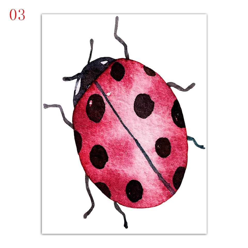 Wall-Art-Printing-Modern-Fashion-Nordic-Style-Poster-Ladybugs-Butterfly-And-Flower-Minimalism-Canvas-Paintings-Decor (5)