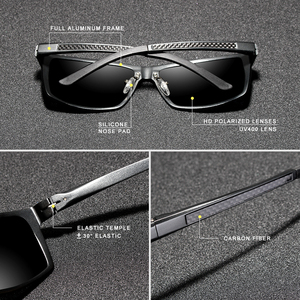 Image 3 - KINGSEVEN 2020 erkek güneş gözlüğü alüminyum magnezyum polarize sürüş ayna gözlük erkekler için/kadın UV400 Oculos