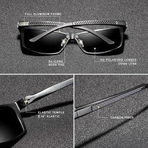 Image 4 - KINGSEVEN تصميم جديد الألومنيوم المغنيسيوم النظارات الشمسية الرجال الاستقطاب مربع القيادة نظارات شمسية الذكور نظارات اكسسوارات للرجال