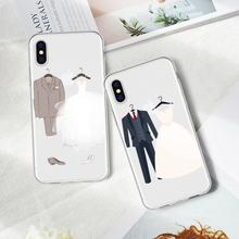 Patterned Cartoon Cute Wedding Dress Phone Case Coque For