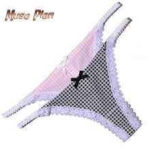Elastic Lace Women's Underwear Open Crotch Panties