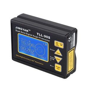 Image 5 - TLL 90S Portatile Mini Digital Display LCD Angolo di Goniometro Angle Meter Professionale Dual axis Laser Livello Inclinometro