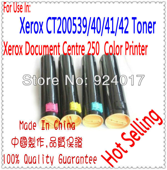 Toner Cartridge For Xerox DC C250/DCC 250 Printer,CT200539/40,CT200541/42 Toner For Xerox Document Centre C250 Printer free shipping toner chip for xerox workcentre 7132 7232 7242 laser printer cartridge 006r01319 006r01265 006r01264 006r01271
