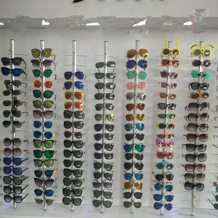 10pcs Aluminium Lockable Sunglasses Eyeglasses Display Rod 1.21M For 14 Frames