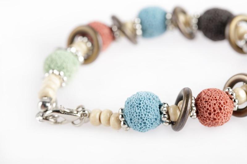 17 Lava Stone Beads Bracelet Beautiful Bangles Bracelets For Women Nature Stone Bracelet Strand Women Bracelets Jewelry Women 17