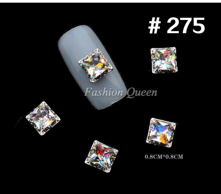 5 stks Nieuwe Topkwaliteit Glitter Rhinestone Luxe 3d Legering Nail - Nagel kunst - Foto 4