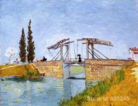 The Langlois Bridge by Vincent Van Gogh Oil painting reproduction home decor Hand painted High quality