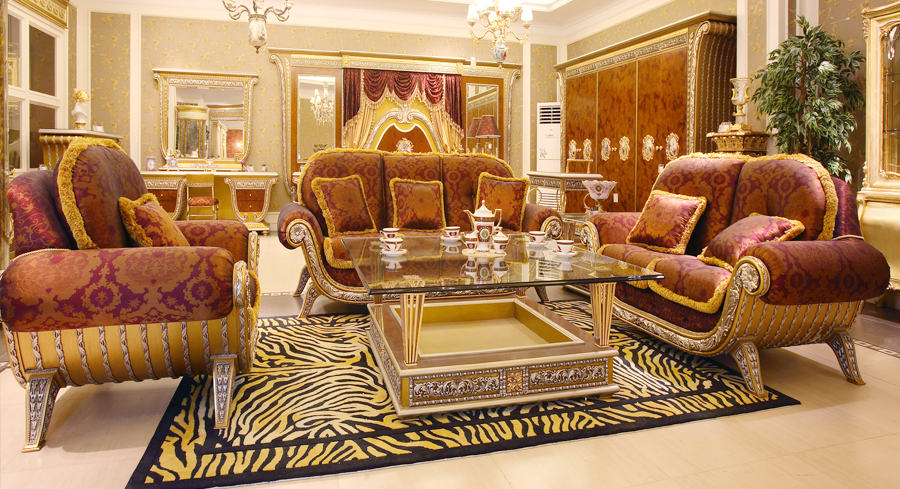 European style antique vintage comfortable and soft living for Best sofa sets for living room