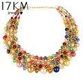 17 km 2017 colar vintage colares declaração de moda mulheres choker collares femininos boêmio colar retro jóias presente do amante