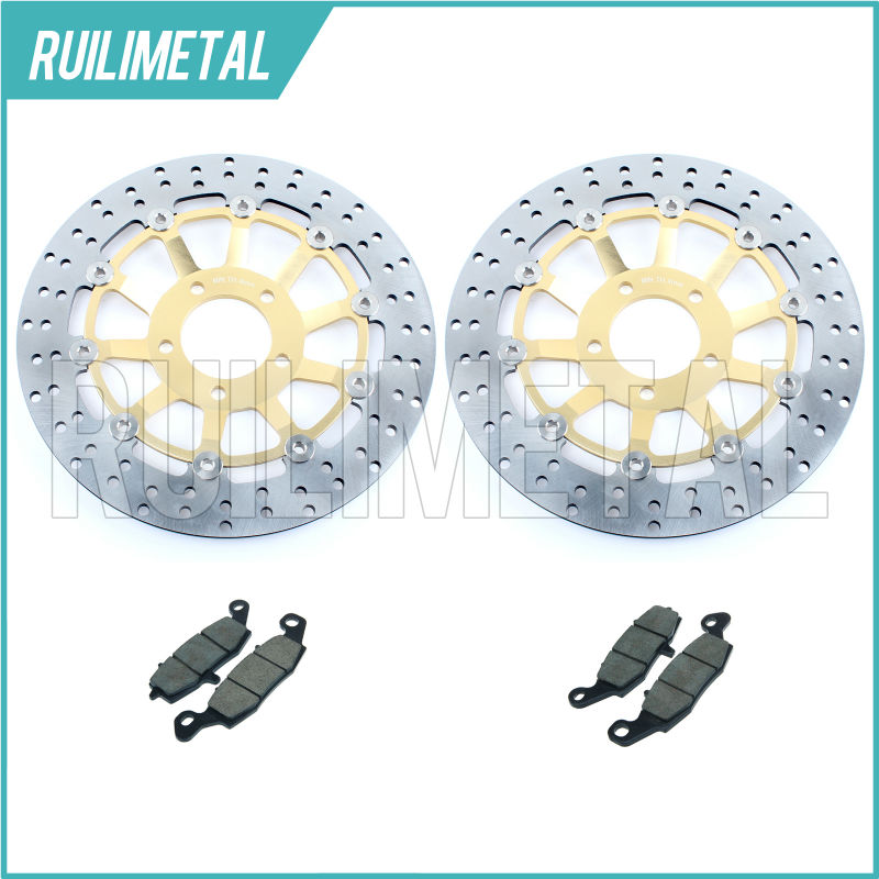 High Quality New Front Brake Discs Rotors + Pads Set for SUZUKI GSF 600 Bandit / S Y SV650S GSX750F GSX 750 F 98 99 00 01 02 pair of graceful rhinestone faux pearl embellished earrings for women