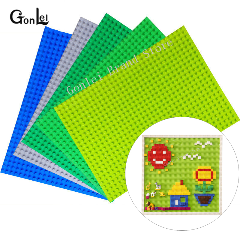 NEW Big Blocks Base Plate 32*24/16,16/8*8 Dots <font><b>Baseplate</b></font> 100% Compatible with Duploed Kids Educational Brick Toys Blocks Plate image