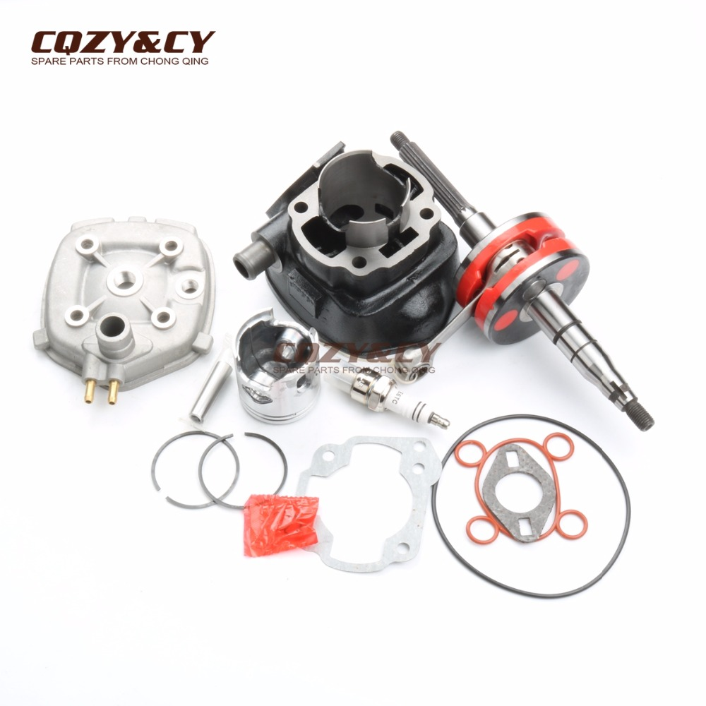70cc Big Bore Cylinder Barrel Kit & Bakelite Crankcase For Yamaha 50 Aerox Naked II Jog 50 RR 2T LC 47mm/10mm 2T