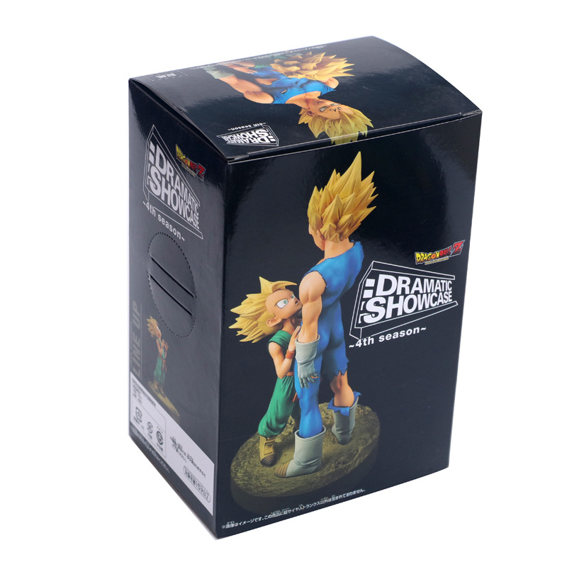 Anime Dragon Ball Z Dramatic Showcase 4th Season Father and Son Vegeta & Trunk Figure Model Collection Toys 14cm