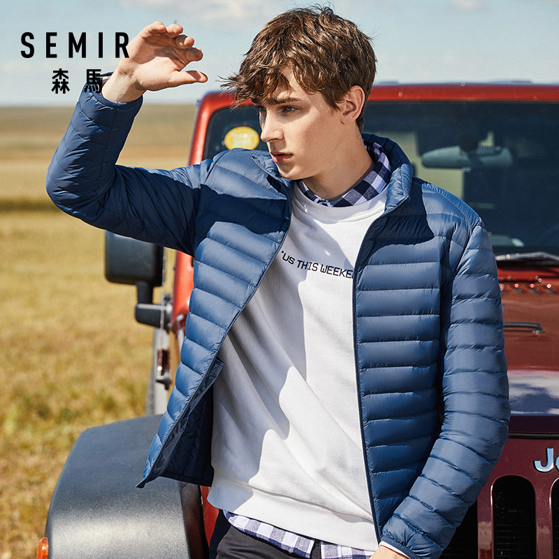 SEMIR 2019 Down Jacket Men Winter Portability Warm 90% White Duck Down Hooded Man Coat jaqueta masculino chaqueta hombre 8