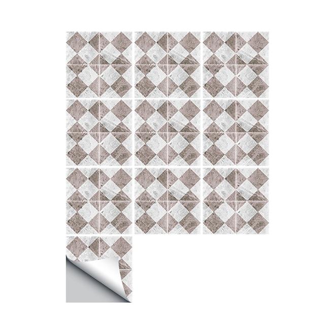 Simple Imitation Carrelage Mural Autocollant 10 Pcslot Bricolage 3d