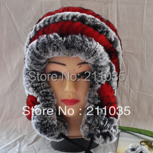 Hot Sale  hot-selling straw hat rex rabbit skin wool ear protector cap fur hat fur one piece,