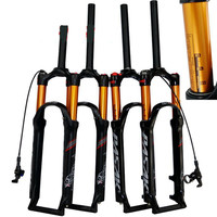 MTB bicycle Mountain bike suspension pressure 26/27.5/29 inch fork air gold tube gas fork shoulder control remote line control