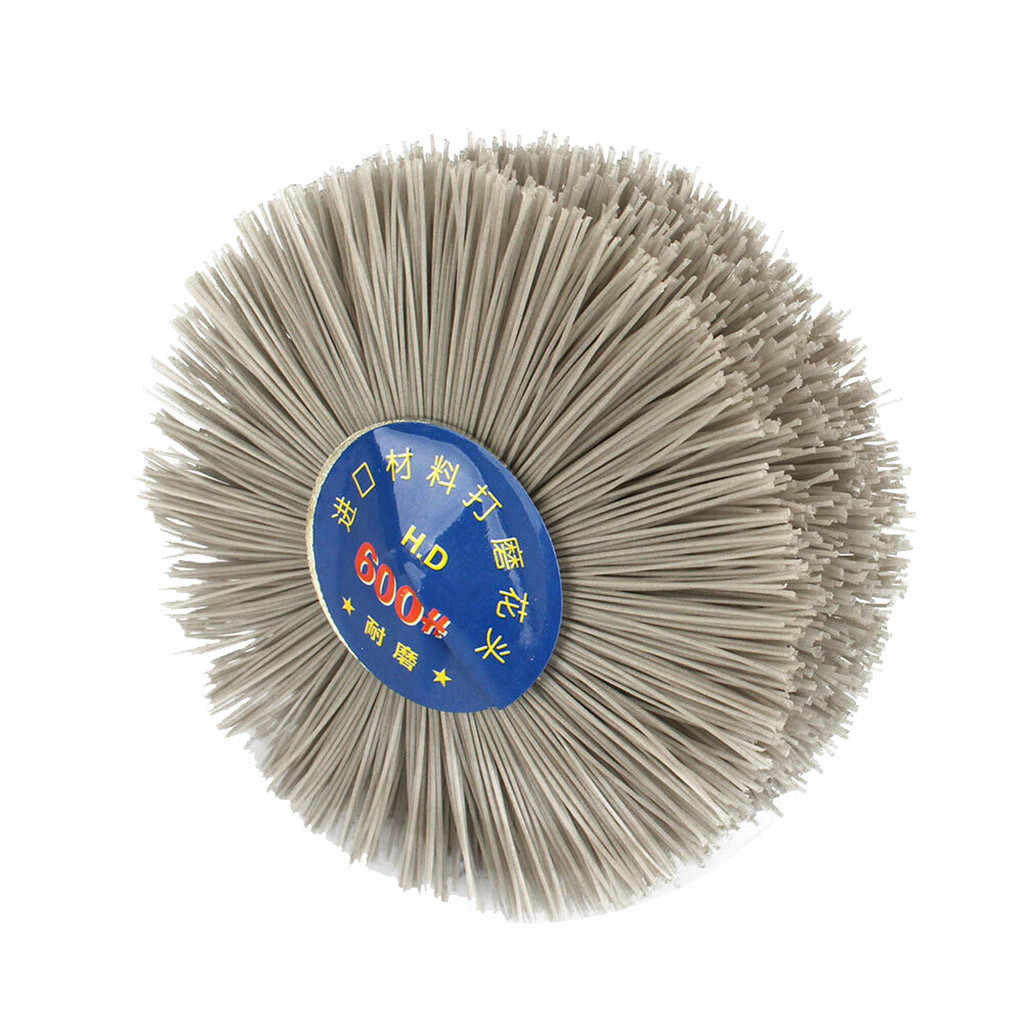 Filo di Rettifica Testa di Fiore Abrasiva In Nylon Ruota di Legno Lucidatura Pennello 6 millimetri Maniglia Per Il Legno Furniture4.12