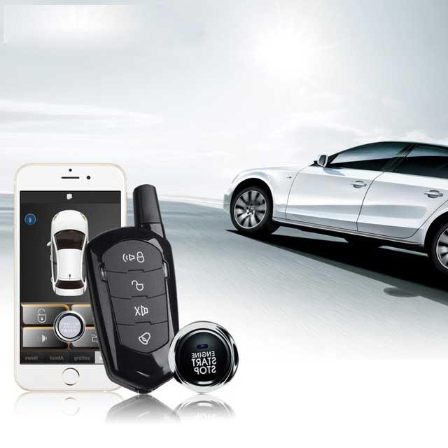Pour Bmw démarrage à distance Smartphone clé de voiture système automatique sans clé système d'alarme de voiture Auto PKE démarrage arrêt verrouillage Central à distance