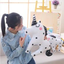 WYZHYWYZHYINS soothing plush toy Unicorn Pony doll pillow rainbow childrens decoration 40CM 50CM 60CM